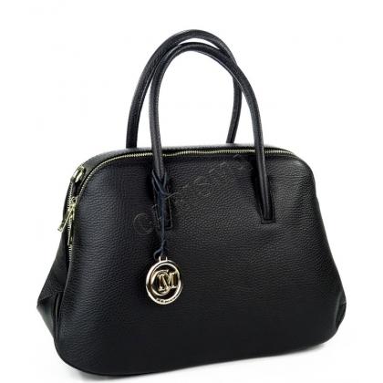 Дамска чанта от естествена кожа в черно 1026-5
