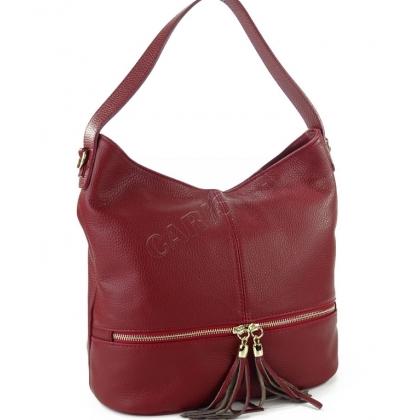 Дамска чанта от висококачествена естествен кожа L1218-9