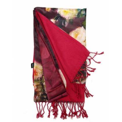 Дамски шал бордо