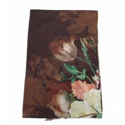 Кафяв дамски шал
