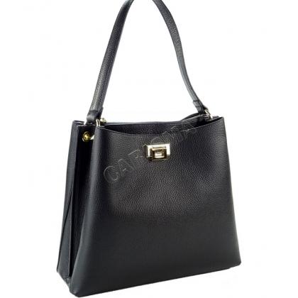 Дамска чанта от шагрен естествена кожа