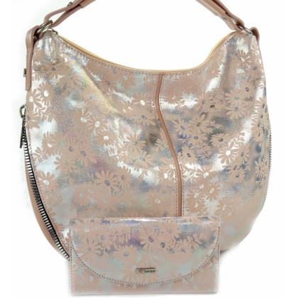 Комплект чанта и портмоне в розово