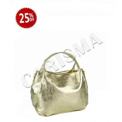 Златна дамска чанта 9128