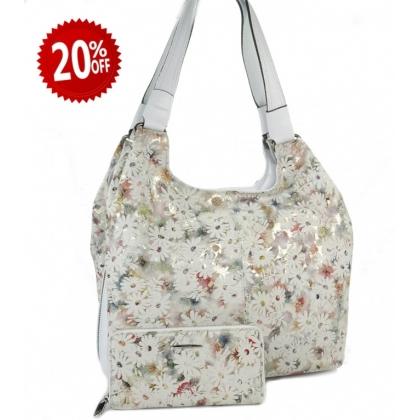 Модерен дамски комплект от чанта и портмоне, 0911-1