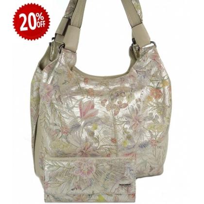 Комплект за подарък, Кожена чанта и портмоне, 0911-2