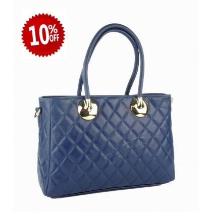 Дамска чанта от естествена кожа, капитониран дизайн 4572IT-4