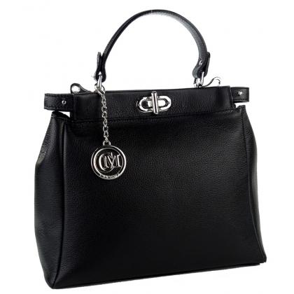 Елегантна дамска чанта, Черна, 1040