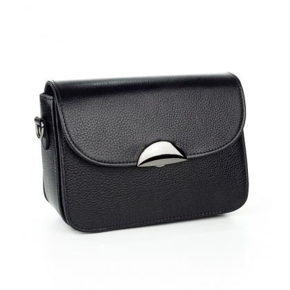 Малка черна чанта преа рамо, T2343-1