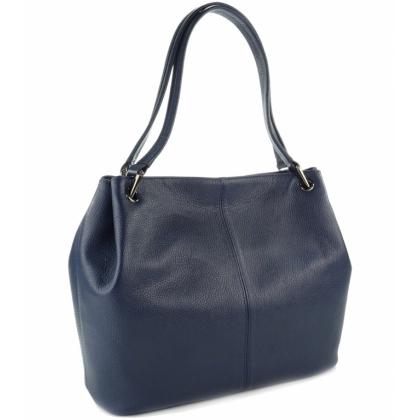 Тъмносиня дамска чанта, E166-1