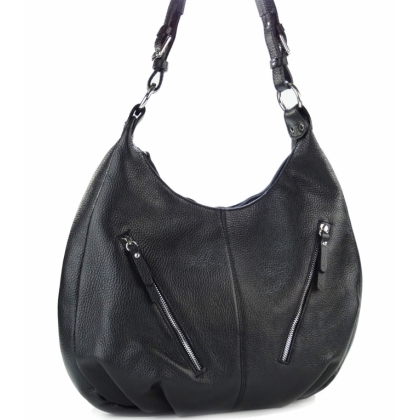 Черна дамска чанта тип торба, 346