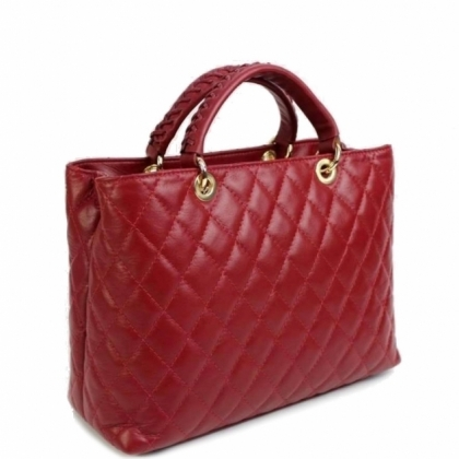 Дамска кожена чанта, Червена, 19403