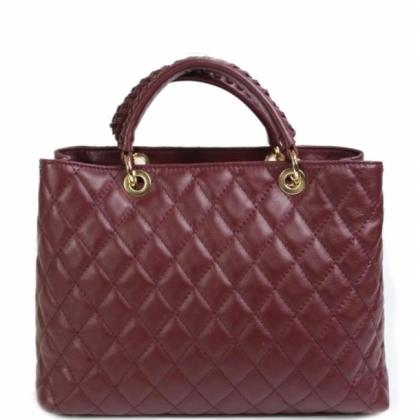 Дамска чанта от естествена кожа, Бордо, 1940-1