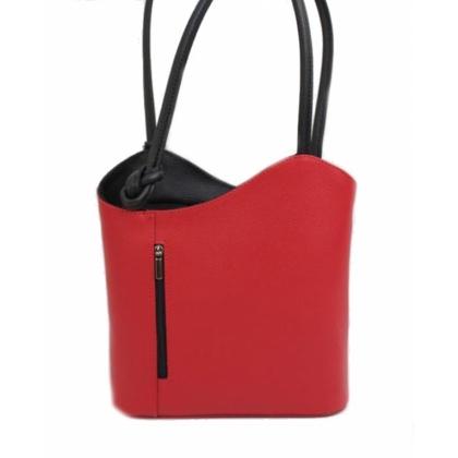 Червена дамска чанта 2 в 1, 100118-5
