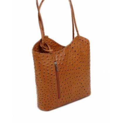 Дамска раница чанта, Цвят Коняк, 100118-6