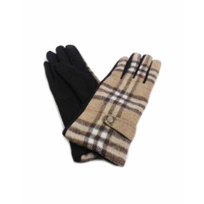 Бежови текстилни дамски ръкавици, 099