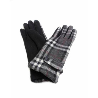 Сиви дамски ръкавици, Текстил, 099-1