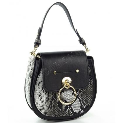 Овална чанта от еко кожа