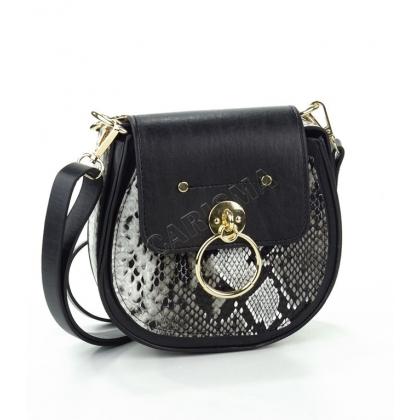 Чанта от еко кожа с змийска шарка