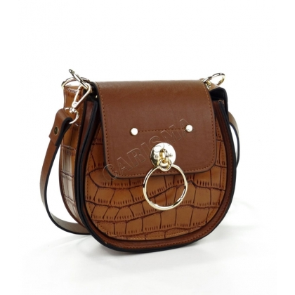 Дамска чанта от еко кожа с овална форма 9101-3