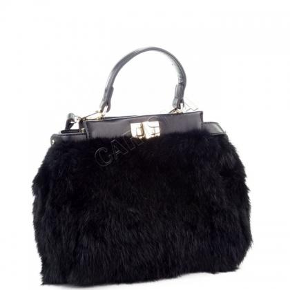 Чанта от естествена кожа с косъм 8007