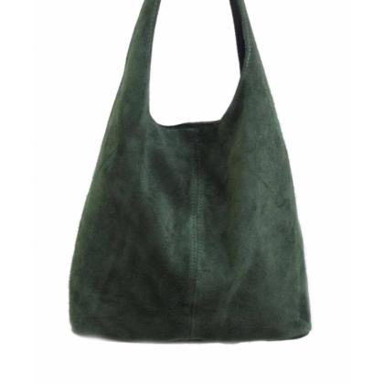 Тъмнозелена чанта тип торба, Маслина, CARISMA, 1395-7