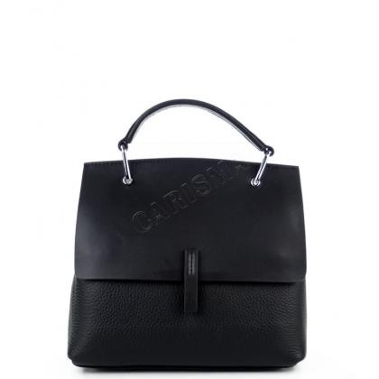 Чанта от естествена кожа с капак