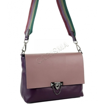 Елегантна, двуцветна кожена чанта за през рамо, K2122