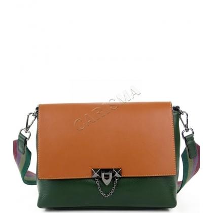 Зелена дамска чанта