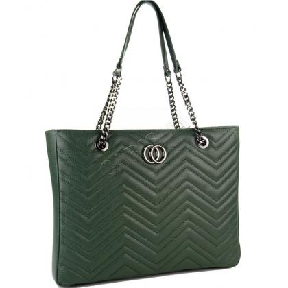 Дамска чанта от естествена кожа 1231G