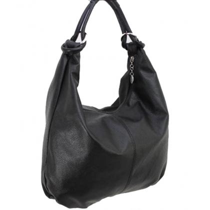 Дамска чанта тип торба в черно 1393L-5