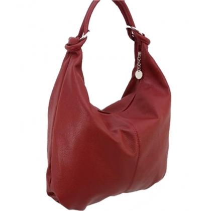 Кожена чанта тип торба