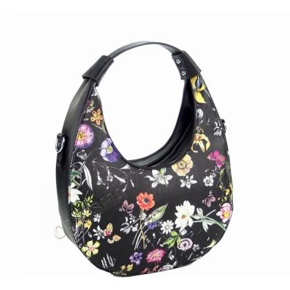Дамска чанта с флорални мотиви 2031L-1