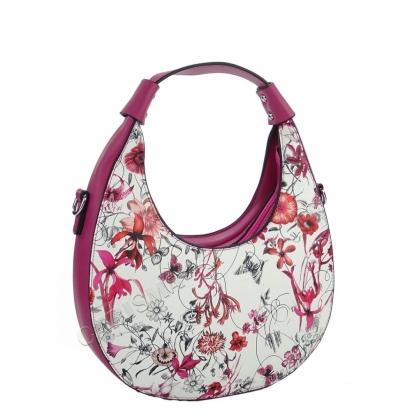 Чанта от еко кожа на цветя