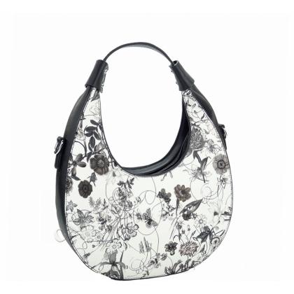 Чанта на цветя от еко кожа