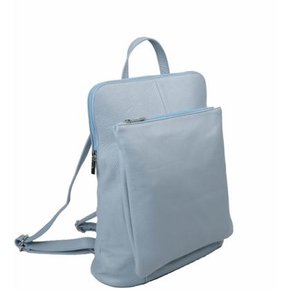 Дамска раница чанта в светлосин цвят, 1157