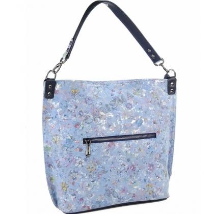 Синя чанта тип торба