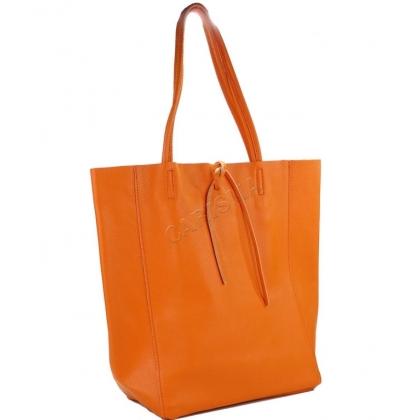 Модерна чанта тип торба от естествена кожа 1666-14