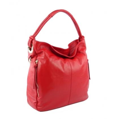 Червена дамска чанта, Тип торба, 4310