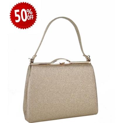 Официална дамска чанта в цвят праскова 1329T-2