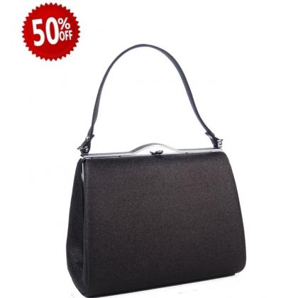 Официална дамска чанта в черно 1329T