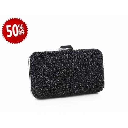 Абитуриентска дамска чанта с камъчета 2832Т-2