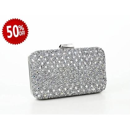 Абитуриентска дамска чанта с камъчета 2876T-3