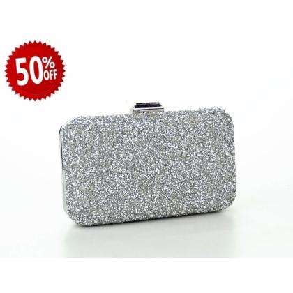 Абитуриентска дамска чанта с камъчета 2832Т-4