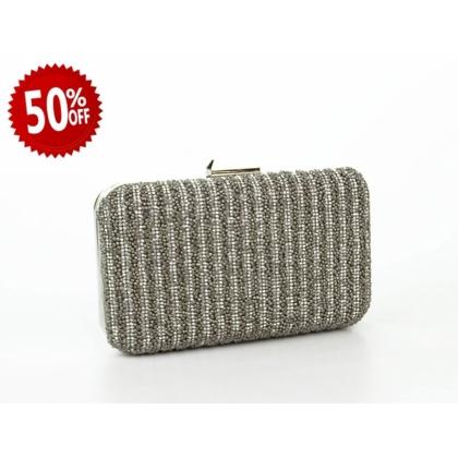 Абитуриентска дамска чанта с камъчета 2876T-5