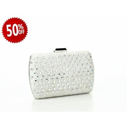 Официална дамска чанта с камъчета 2933T-1