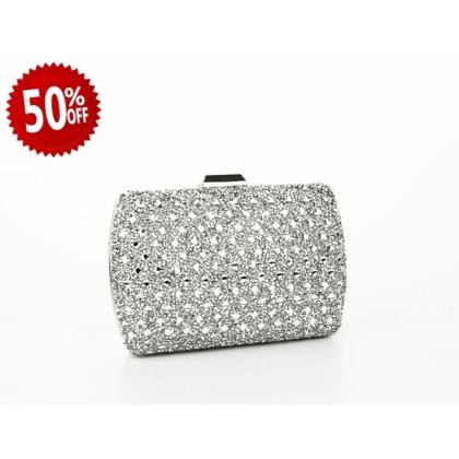 Официална дамска чанта с камъчета 2933T-2