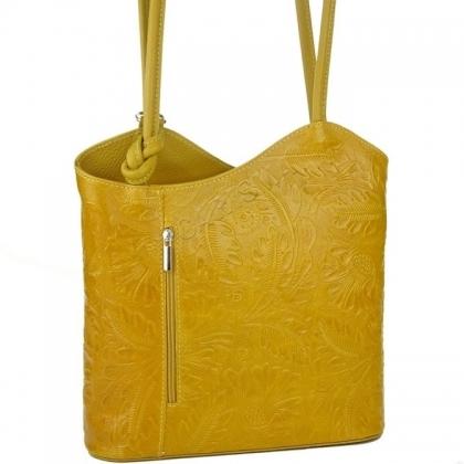 Дамска чанта-раница от естествена кожа 100118-7