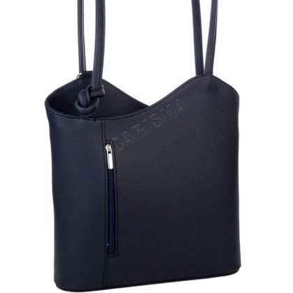 Дамска чанта-раница от естествена кожа 100118-11