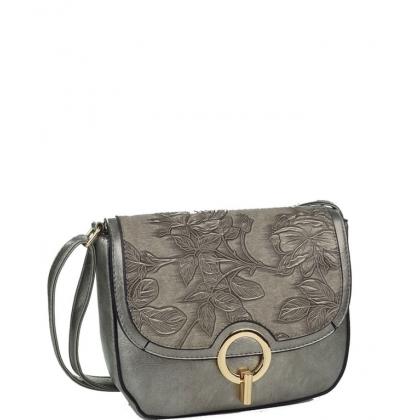 Малка дамска чанта с капак от еко кожа