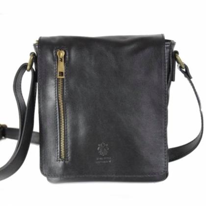 Черна кожена чанта